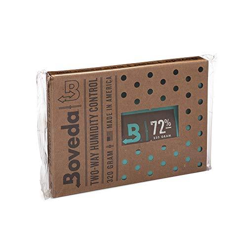 Boveda für Zigarren/Tabak | 2-Wege-Feuchtigkeitsregulierung mit 72% relativer Feuchtigkeit | Größe 320 für bis zu 100 Zigarren | patentierte Technologie für Zigarren-Humidore | 1 Stück