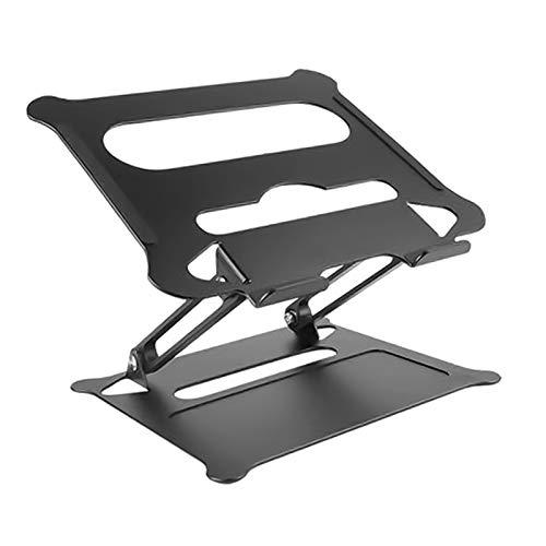 #N/A/a Soporte portátil para portátil de Viaje portátil Soporte para Tablet de Aluminio Plegable, Altura y ángulo Ajustable - Negro
