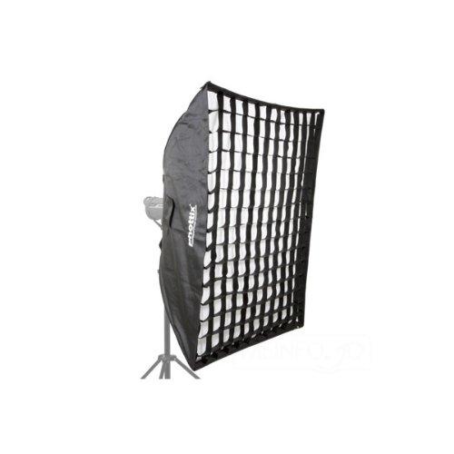 Phottix Softbox 2 in 1 - Ventana de luz para iluminación fotográfica (con Grid, 91 x 122 cm)