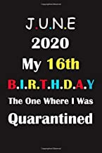 My 16th Birthday The One Where I Was Quarantined 2020: Happy Quarantine Birthday Notebook Gifts for women and men / 16 years old 16th birthday present ... and quarantined / Funny Card Alternative
