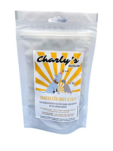 charlys delicate Haut & Fell | 70g Functional Snack für Hunde & Katzen