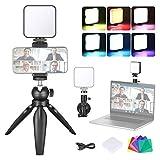 Neewer Kit de Iluminación para Videoconferencia con Ventosa, Trípode, Filtro de Color y Soporte para Teléfono para Videoconferencia Trabajo Remoto Llamadas con Zoom Transmisión Automática