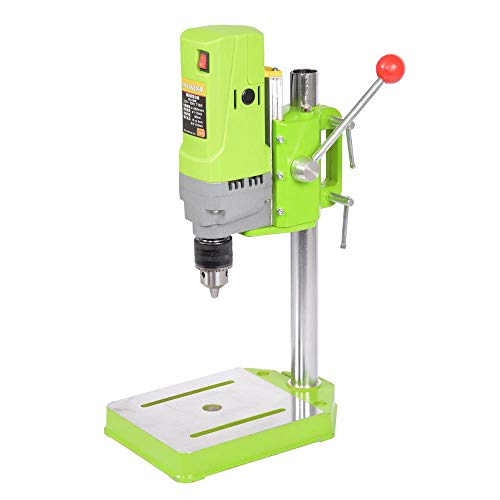 Mini Electric Bench Drill 220V 710W Press Stand Table Workbench Metal Drilling Machine Rotary Tool Workstation Repair Tools Wood, Plastic Plate, Aluminum, Composite Panels, Resin Plate US STOCK