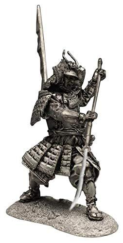 Desktop-Skulptur Krieger Skulptur Statue, japanische Krieger Statue Japanische Samurai Modellskulptur Metallhandwerk Desktop Sammlung Dekoration Dekoration Zubehör