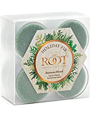 Root Candles Scented Beeswax Blend Tealight Candles, 8-Count, Holiday Fir