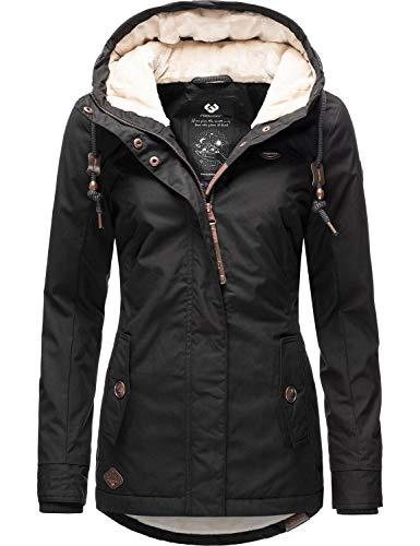 Ragwear Damen Winterparka Winterjacke Monade Schwarz20 Gr. S