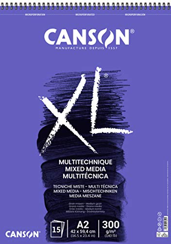 CANSON XL Mix-Media Block, DIN A2, 15 Blatt, 300 g/m²