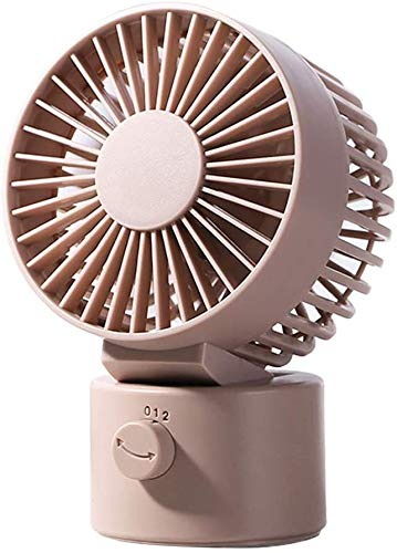 WDMUMU Ventilador De Escritorio USB Portátil, Cabezal De Sacudida De Ventilador De Escritorio De 2 Velocidades Y Ventilador De Enfriamiento De Ángulo Ajustable con Cable USB De 170 Cm,Rosado