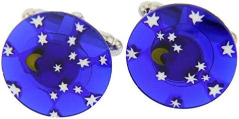 GlassOfVenice Millefiori - Gemelos de Cristal de Murano, diseño de Noche Estrellada