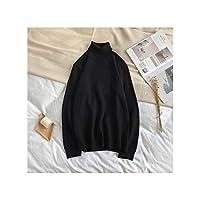 セーター男性用カジュアルメンズタートルネックセーター暖かいニットシャツウールセーター男性、色1、M