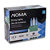 NOMA Premium Mini LED Christmas Lights   70 Blue & Pure White String Lights   Indoor & Outdoor  23.6-Foot Strand