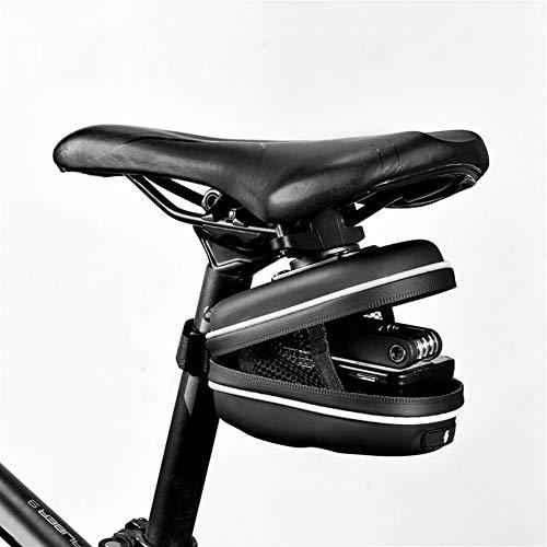 Bolsa de Cuadro de Bicicleta Cola Camino de la montaña Bicicleta de la Bici Volver Trasera del Asiento de una Silla Pannier Bolsa Bolsa Wedge Pack de Saco para MTB al Aire Libre (Color : Black)