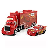 fashionmore 2 PCS Cars Movie Toys Lightning McQueen & Mack Hauler Truck Diecast Toy Car 1:55 Loose Kids Toy Vehicles McQueen Toys Car