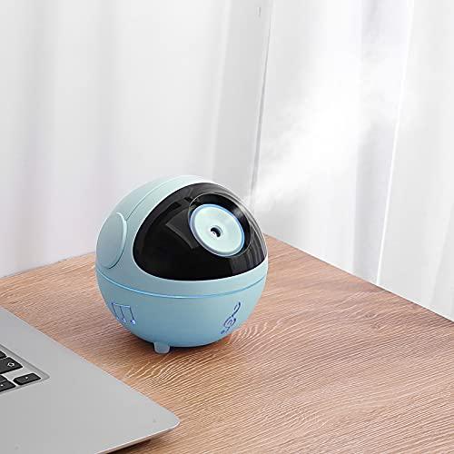 FOGARI Humidificador USB, mini humidificador ultrasónico ultrasilencioso, 350 ml, apagado automático sin agua y 2 modos de nebulización ajustable, para casa, oficina, dormitorio, coche (negro)