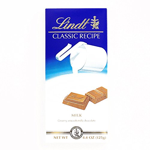 Lindt Classic Recipe Milk Chocolate Bar 4.4 oz each (2 Items Per Order, not per case)