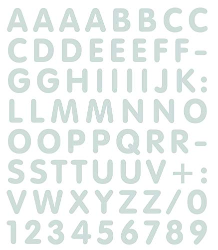 4R Quattroerre.it 894 Kit Tabella Lettere Numeri Adesivi, Bianco
