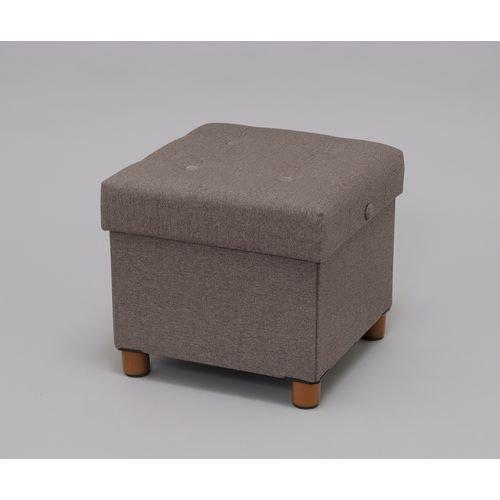アイリスオーヤマスツールクッション付収納ボックス座れる折りたたみインナーボックス付取り外せる脚付座面裏側テーブルブラウンASST-38