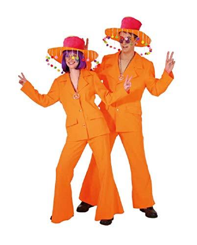 Preisvergleich Produktbild O7016-48-50 Herren Anzug neon orange 70er 80er Jahre Gr.48-50