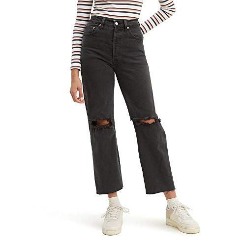 Levi's Women's Ribcage Straight Ankle Jeans, Cabo Nights, 27 (US 4)