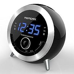 Alarm Clock Radio, Memorex 10 in 1 Clock Radio, Digital FM Radio, Bluetooth Speaker, Dual Alarm, USB Charging Port, Night Light, Snooze, Sleep Timer, Time Setting,Dimmer, AUX-in(MC3533)