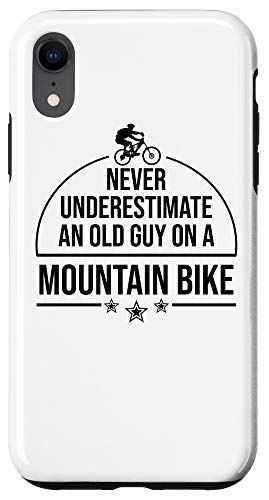 iPhone XR Funny Old Biker Mountain Bike Gift | Cute Bicycle Riders Men Case