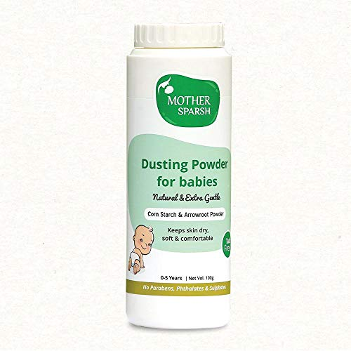 Mother Sparsh Talc-Free Natural Dusting Powder for Babies, 100 g