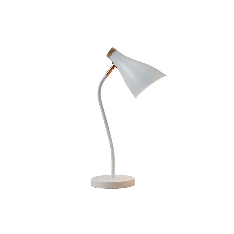 依存する立派な部屋を掃除する明るい LEDデスクランプ目の保護?カレッジ学生寮事務研究ベッドルームベッドサイド北欧絶妙 照明システム (Color : White)