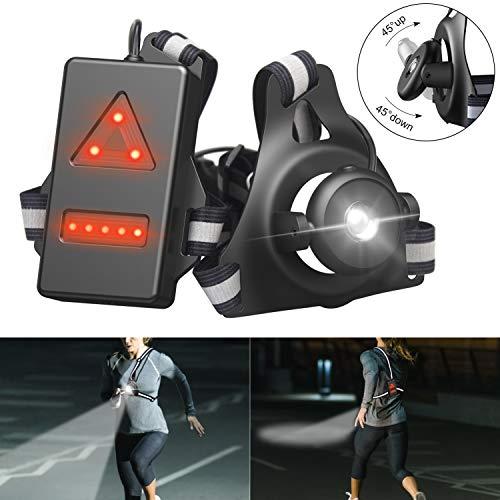 BOIROS Running Chest Light for Runners, USB Rechargeable Night Light Bright...