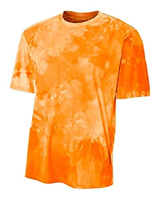Athletic Orange Men's Adult Small Cloud Dye Tech Moisture Wicking Cool Base Tee