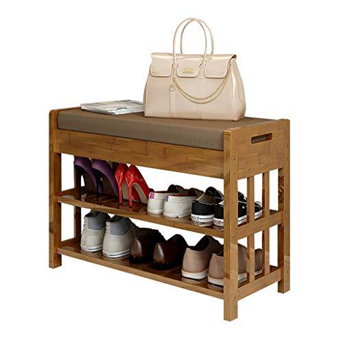 Étagère à chaussures Casier à chaussures multifonctionnel avec porte de foyer en bois massif Meuble à chaussures en bois massif (taille : 70 * 30 * 50cm)