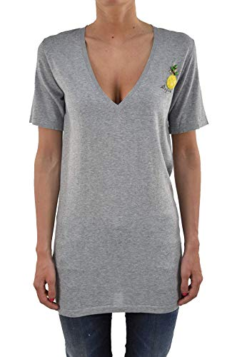 Dsquared2 T-shirt lang grijs ananas dames - kleur: grijs - maat: M/S - Made in Italy