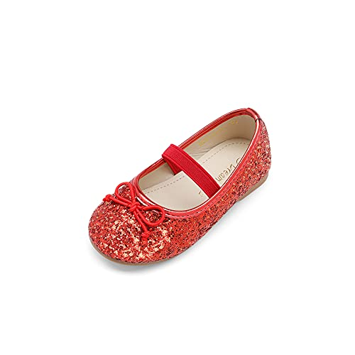 DREAM PAIRS Toddler Belle_01 RED Girl s Mary Jane Ballerina Flat Shoes Size 6 M US Toddler