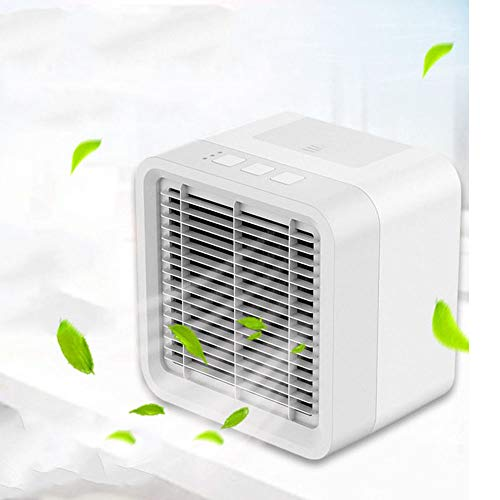 AGYE Portable Air Cooler, Personal Mini Air Conditioner, 3 in 1 Evaporative Coolers, Humidifier, Purifier with USB, 3 Speeds Desktop Cooling Fan for Office, Home, Dorm, Travel