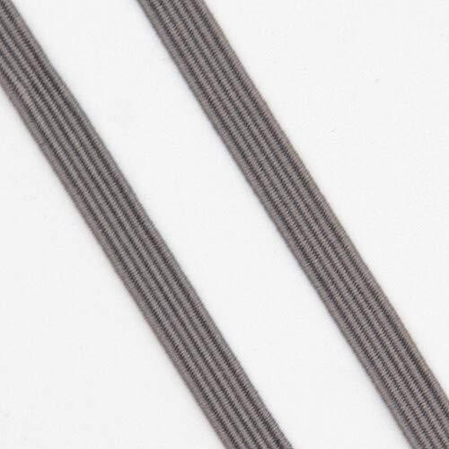 XDYBH 6mm Elastiekjes Masker Rope Rubber Band Line Spandex Ribbon Naaien Versiering van het Kant tailleband Garment Accessory DIY maskers Praktische en handige (Color : 5gray)