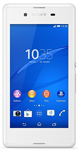 Sony Xperia E3 Smartphone (11,4 cm (4,5 Zoll) IPS-Display, 1,2 GHz-Quad-Core-Prozessor, 5 Megapixel-Kamera, Android 4.4) weiß