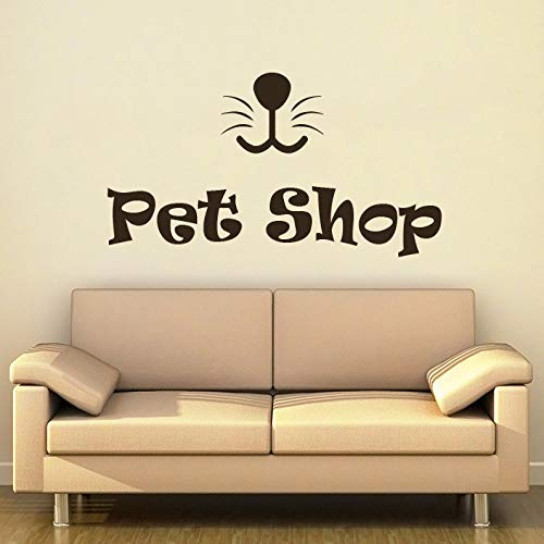 xingbuxin Pet Shop Wandtattoo Pflege Pet Salon Wandaufkleber Vinyl Innen Kunst Zitate Wandbild Dekor Tier Modernes Design DIY Aufkleber 1 42x100 cm