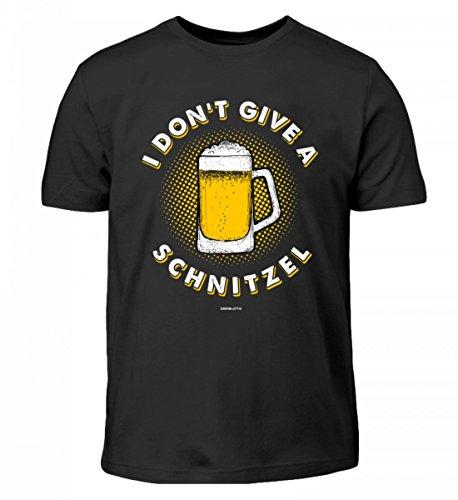 Hochwertiges Kinder T-Shirt - I Don't give a Schnitzel - Oktoberfest Dirndl Lederhose Bier