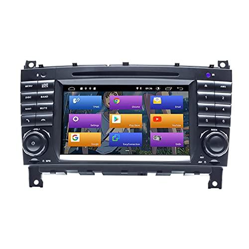 BOOYES für Mercedes Benz CLK Klasse W209 CLK200 C-Klasse W203 C180 CLC Klasse Android 10.0 Autoradio Stereo-GPS-System 7' Auto-Multimedia-Player-Unterstützung Auto Auto Play TPMS WiFi DAB Mirror Link