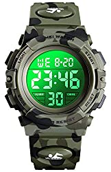 in budget affordable Children's clocks for boys and girls Multi-function digital LED sports 50m waterproof electronic analog clocks for children