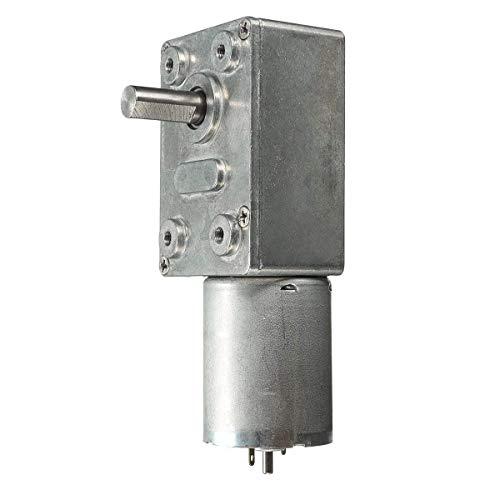 Allamp Piezas mecánicas, 12V 120 RPM de Alto par Turbo Worm Motor Reductor Reductor Cajas Reductoras de Motor Herramientas industriales
