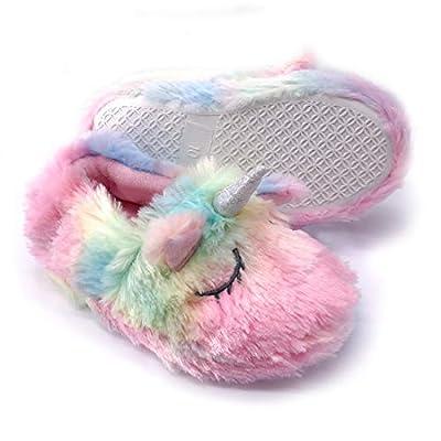 Dream Bridge Zapatillas de Felpa para Niñas Niños Zapatos de Peluche para Chicas Unicornio Rosa
