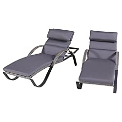 Outdoor Wicker Chaise Lounger For Heavy People