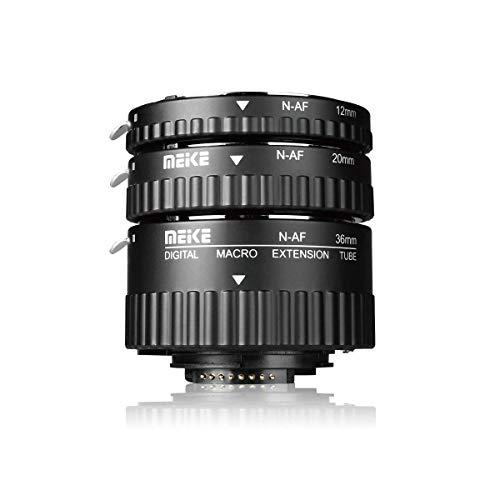 MEIKE MK-N-AF1-B Auto Focus Macro Extension Tube Set for Nikon DSLR Camera 10MM 20MM 36MM D80 D90 D300 D300SD800 D3100 D3200 D3400 D5000 D51000 D5200 D7000 D7100 etc(Metal Bayonet Plastic Mount)