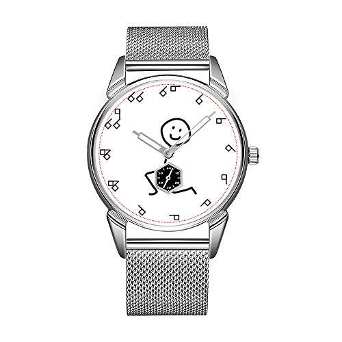 Mode herenhorloge zilverkleurig roestvrij staal waterdicht horloge mannen top merk herenhorloge semaphor dameshorloge