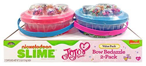 Nickelodeon CRA-Z-Art JoJo Siwa Slime Bow Bedazzle 2-Pack Buckets