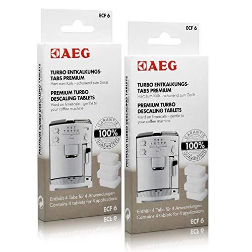 2x AEG ECF 6 Turbo Entkalkungs Tabs für Ihren Kaffeevollautomaten (4 Tabs)