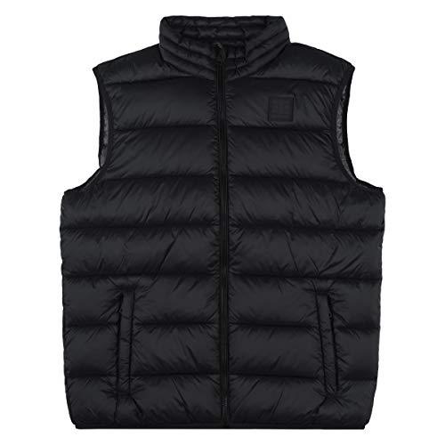 Champion Herren Winterweste Vest 214871, Farbe:schwarz (NBK)/grau (grdkm)/Allover, Größe:M