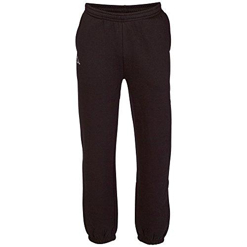 Kappa Herren Jogging-Hose Snako | Lange Sport-Hose Retro-Look I Trainingshose mit Eingriffstaschen | 005 black, Größe L