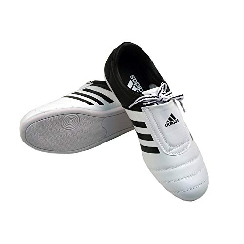 adidas Kick Shoes Martial Arts Sneaker White with Black...