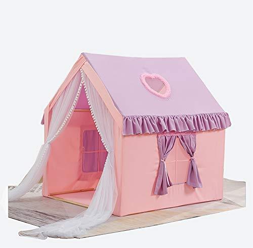 Mädchen Prinzessin Zelt, Spaß Spielhaus-Zelt Haus for Kinder Tale Zelte Spiel-Zelt mit Fenster - Leseecke - Kinder Geschenke (Color : Pink+Purple, Size : 105 * 126 * 130CM)